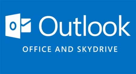 outlook office skydrive