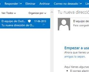 outlook panel lectura